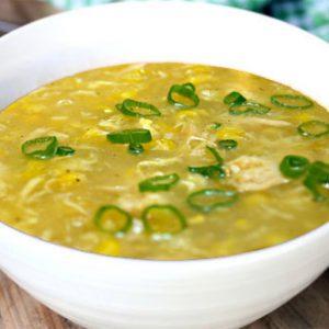 Asian Sweetcorn Soup
