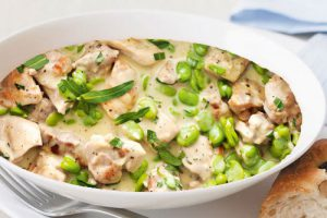 French Chicken with Tarragon and Broadbeans