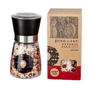 Pink Lake Natural Salt Chilli Salt Grinder