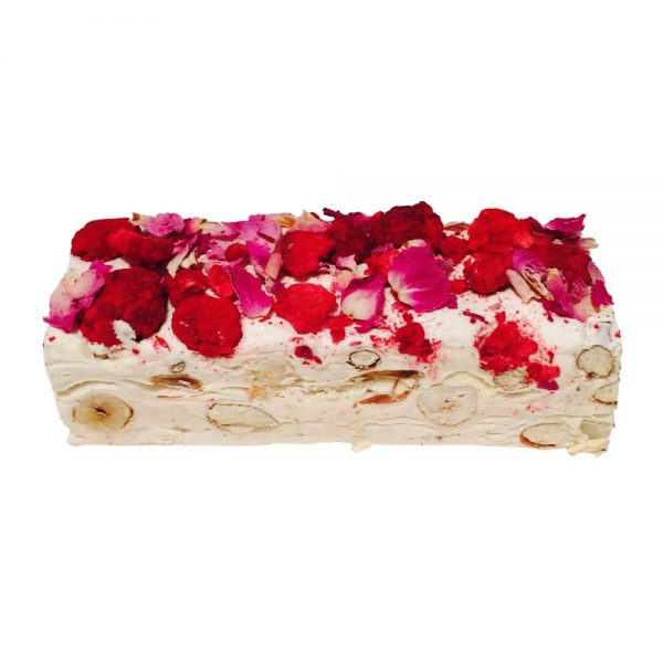 Raspberry Vanilla and Rose Petal Nougat by Bramble and Hedge