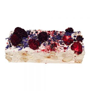 Blackberry and candied violet nougat by Bramble and Hedge