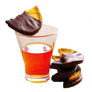 Dark Chocolate dipped dried oranges by Il Migliore