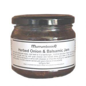 Murrumbooee herbed onion and balsamic jam
