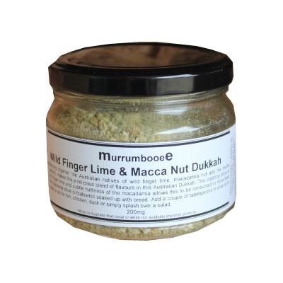 Murrumbooee wild finger lime macca nut dukkah