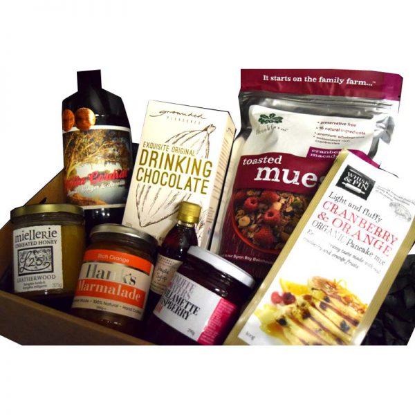 Breakfast foods gift hamper