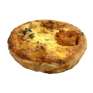 Roasted pumpkn and feta cheese quiche delivered Chatswood