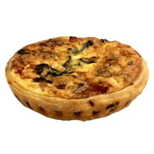 Smoked salmon and chive quiche from Delish Lindfield